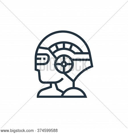 artificial intelligence icon isolated on white background from data analytics collection. artificial