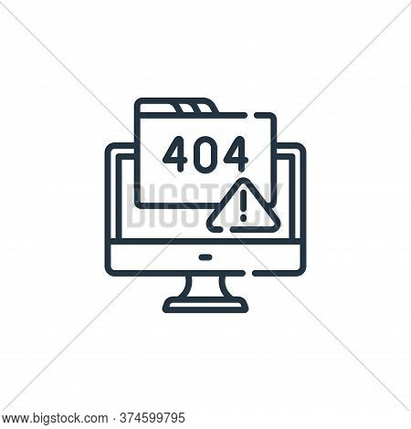 error icon isolated on white background from web development collection. error icon trendy and moder