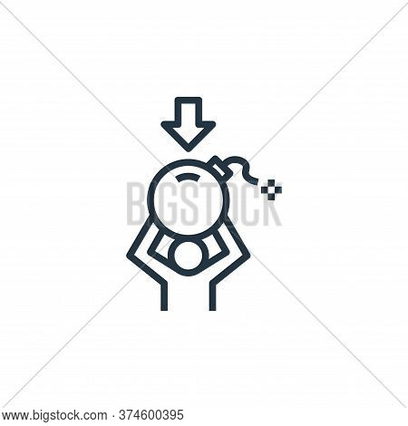 stress icon isolated on white background from work life balance collection. stress icon trendy and m