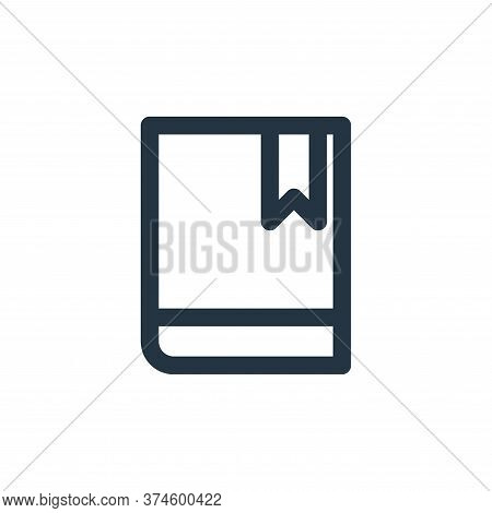 book icon isolated on white background from marketing business collection. book icon trendy and mode