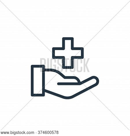 healthcare icon isolated on white background from health and protection collection. healthcare icon