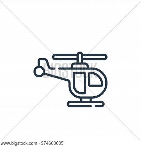 helicopter icon isolated on white background from children toys collection. helicopter icon trendy a