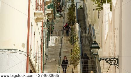 Steps To Alfama Hill In The City Of Lisbon - Lisbon, Portugal - October 15, 2019