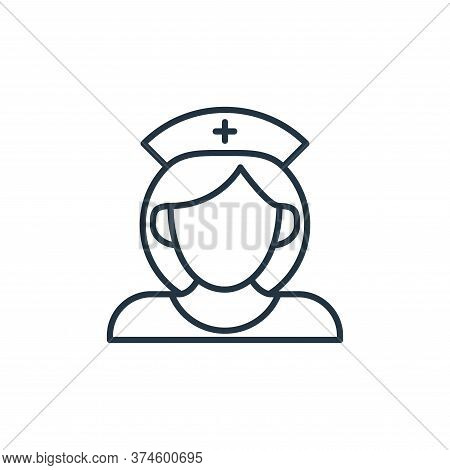 nurse icon isolated on white background from coronavirus disease collection. nurse icon trendy and m
