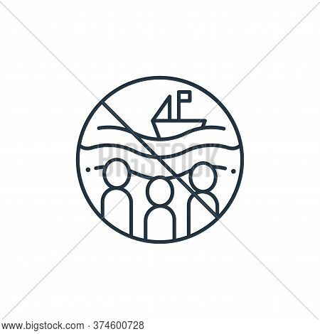 crowd icon isolated on white background from coronavirus collection. crowd icon trendy and modern cr
