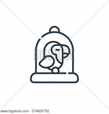 bird cage icon isolated on white background from animal welfare collection. bird cage icon trendy an