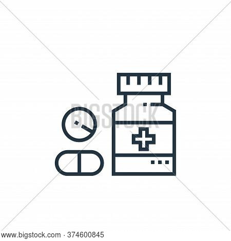 drugs icon isolated on white background from medical services collection. drugs icon trendy and mode