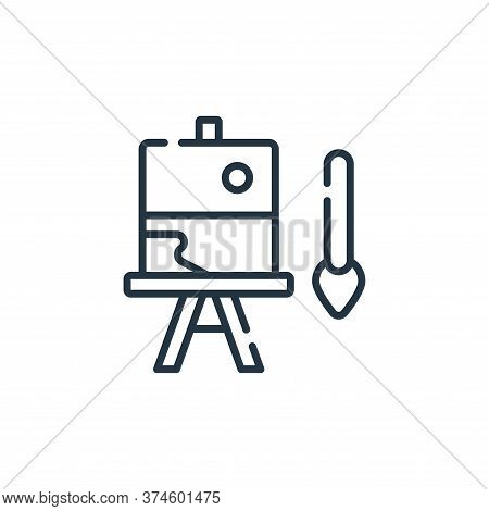 painting icon isolated on white background from free time collection. painting icon trendy and moder