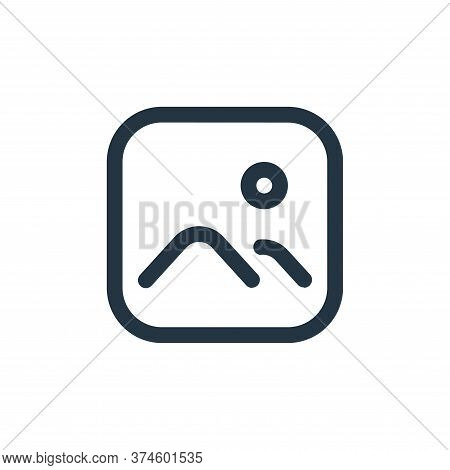 images icon isolated on white background from multimedia collection. images icon trendy and modern i