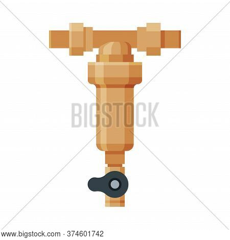 Water Supply And Purification, Special Modern Technologies Vector Illustration On White Background