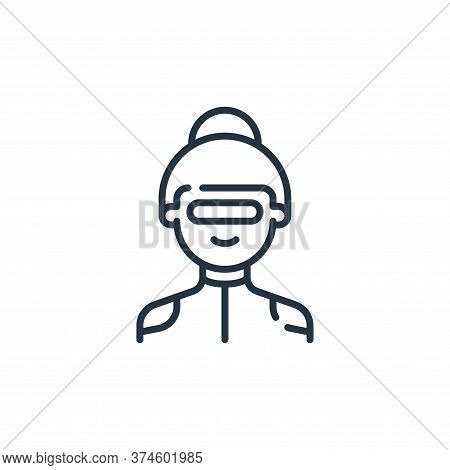 woman icon isolated on white background from technology of the future collection. woman icon trendy