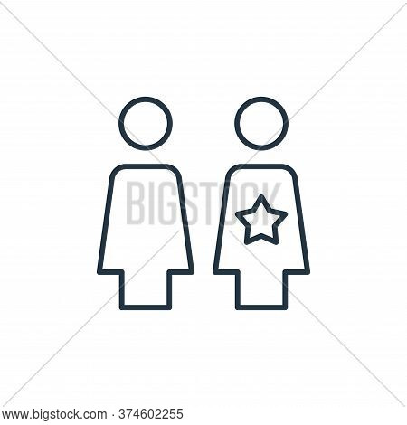 businesswoman icon isolated on white background from leadership collection. businesswoman icon trend