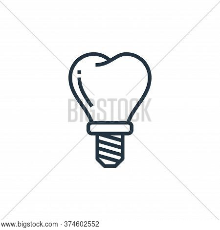 tooth icon isolated on white background from hospital collection. tooth icon trendy and modern tooth