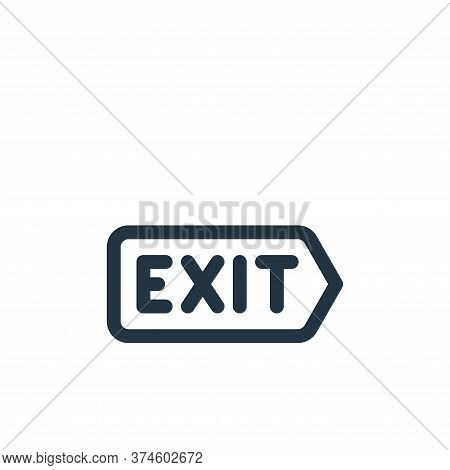exit icon isolated on white background from emergencies collection. exit icon trendy and modern exit