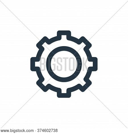 gear icon isolated on white background from multimedia collection. gear icon trendy and modern gear