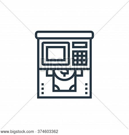 atm icon isolated on white background from payment element collection. atm icon trendy and modern at