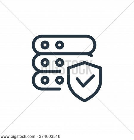 secure icon isolated on white background from work office server collection. secure icon trendy and