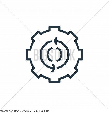 gear icon isolated on white background from engineering collection. gear icon trendy and modern gear