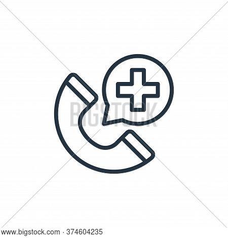telephone call icon isolated on white background from coronavirus collection. telephone call icon tr