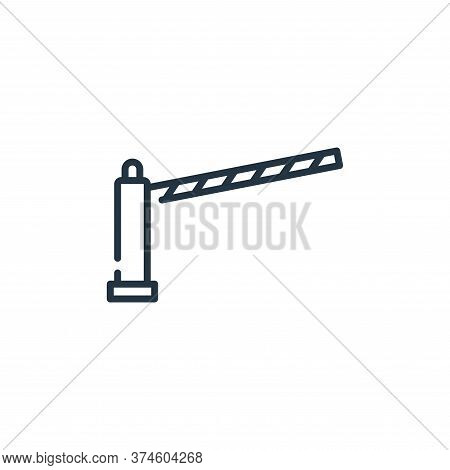traffic barrier icon isolated on white background from mall collection. traffic barrier icon trendy