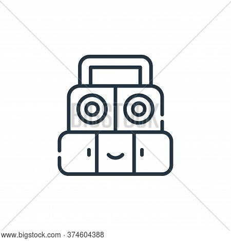 sound system icon isolated on white background from reggae collection. sound system icon trendy and