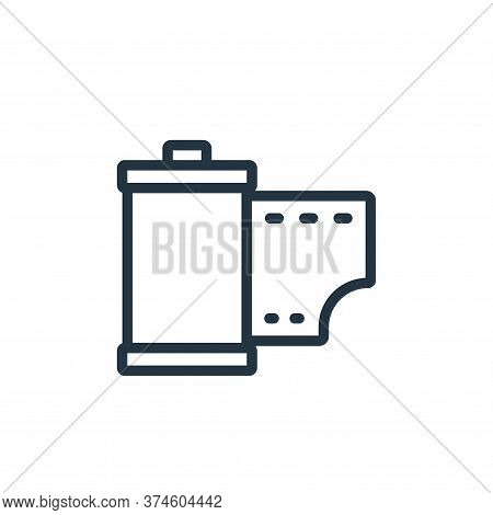 roll icon isolated on white background from photography collection. roll icon trendy and modern roll
