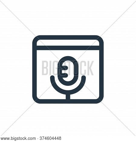 audio icon isolated on white background from web apps seo collection. audio icon trendy and modern a