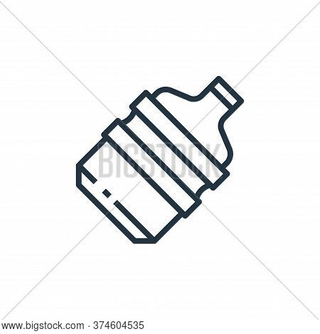 gallon icon isolated on white background from recycling collection. gallon icon trendy and modern ga