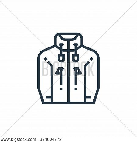 jacket icon isolated on white background from camping collection. jacket icon trendy and modern jack