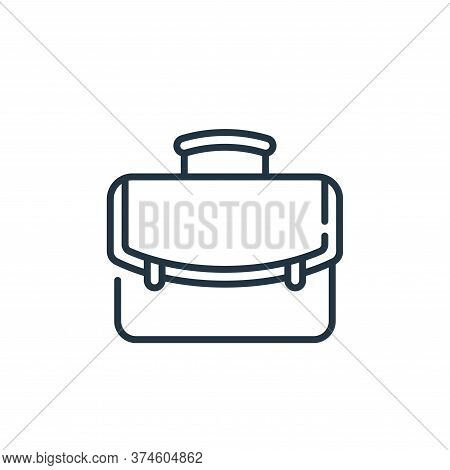 portfolio icon isolated on white background from life skills collection. portfolio icon trendy and m