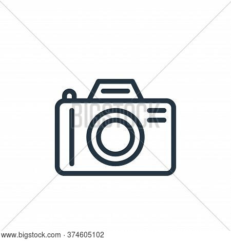 camera icon isolated on white background from hobbies collection. camera icon trendy and modern came
