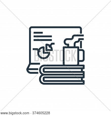 education icon isolated on white background from working from home collection. education icon trendy