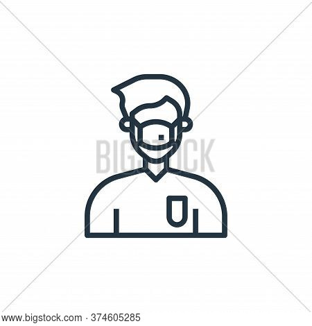 medical mask icon isolated on white background from coronavirus collection. medical mask icon trendy
