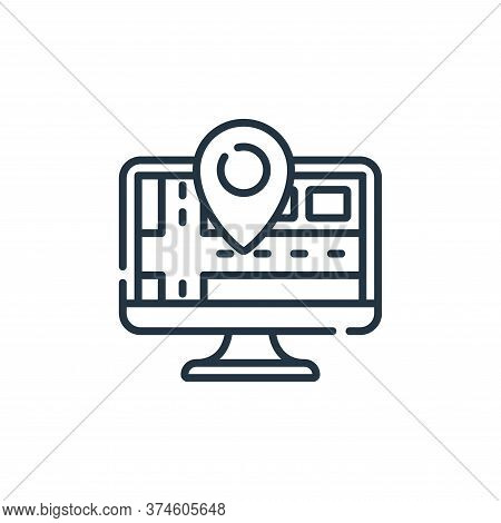 tracking icon isolated on white background from navigation and maps collection. tracking icon trendy