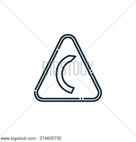 right bend icon isolated on white background from signaling collection. right bend icon trendy and m