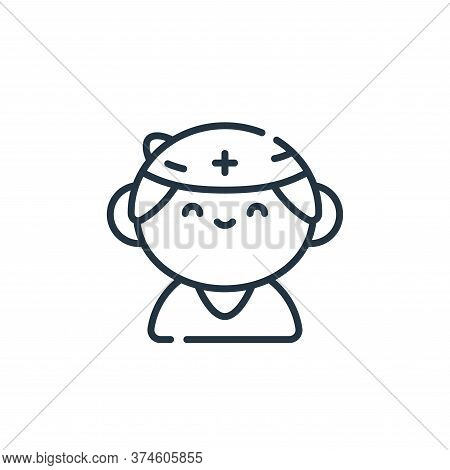 nurse icon isolated on white background from medical services collection. nurse icon trendy and mode