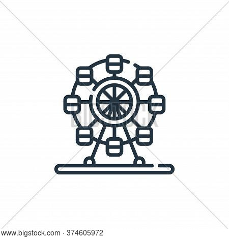 ferris wheel icon isolated on white background from circus collection. ferris wheel icon trendy and