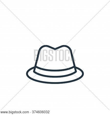 fedora hat icon isolated on white background from wardrobe collection. fedora hat icon trendy and mo