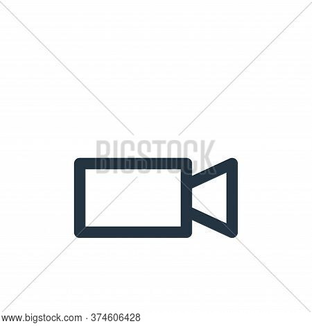 video camera icon isolated on white background from multimedia collection. video camera icon trendy