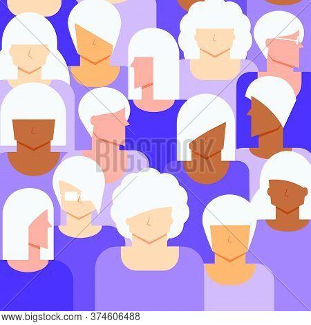 Women Senior Citizen Concept. Diversity Elder Women People Background.