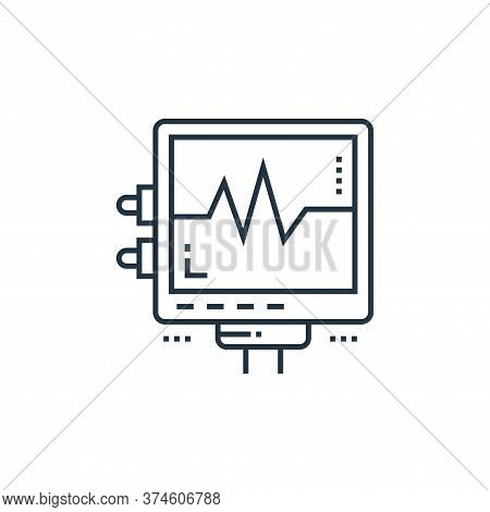 electrocardiogram icon isolated on white background from technology devices collection. electrocardi