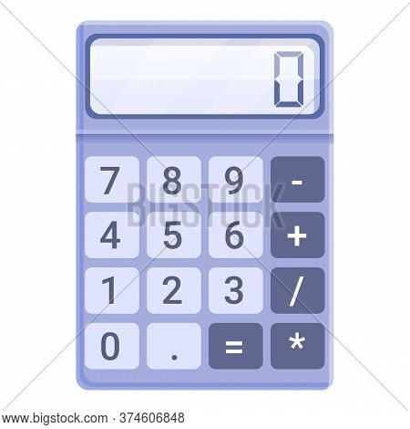 Business Calculator Icon. Cartoon Of Business Calculator Vector Icon For Web Design Isolated On Whit