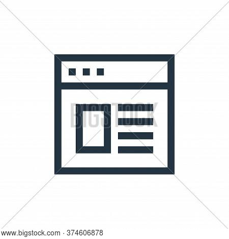 browser icon isolated on white background from web essentials collection. browser icon trendy and mo