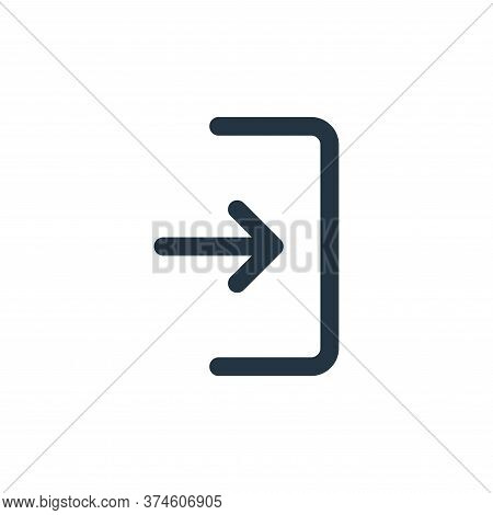 login icon isolated on white background from user interface collection. login icon trendy and modern