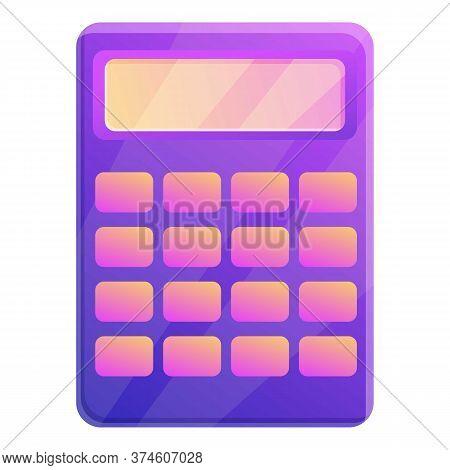 University Calculator Icon. Cartoon Of University Calculator Vector Icon For Web Design Isolated On