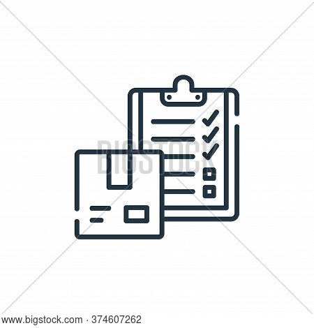 checklist icon isolated on white background from delivery collection. checklist icon trendy and mode