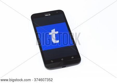 Kouvola, Finland - 23 January 2020: Ticketmaster App Logo On The Screen Of Smartphone Asus