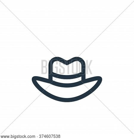 fedora hat icon isolated on white background from news collection. fedora hat icon trendy and modern