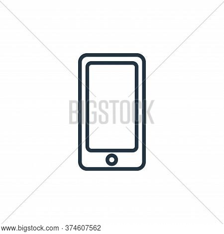 smartphone icon isolated on white background from communication collection. smartphone icon trendy a