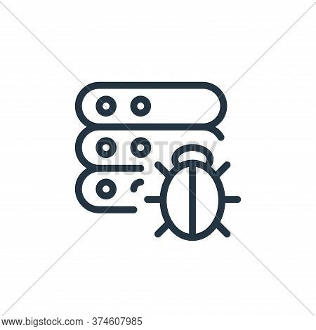 bug icon isolated on white background from work office server collection. bug icon trendy and modern